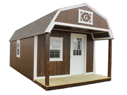 Lofted Barn Cabin with LP SmartSide Siding and shingled roof
