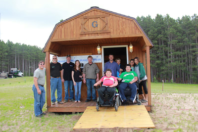 Grandview Buildings and Make-a-Wish Minnesota partnered together to help Marcelo's wish come true!  Putting together Marcelo's 12x20 Lofted Barn Cabin Clubhouse was an amazing experience for everyone involved!